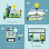 Conceitos para cursos de línguas ilustração stock