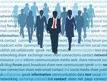 Conceitos sociais dos povos da rede dos media do negócio Foto de Stock