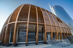 Unicredit Pavillion, Milan, Italy royalty free stock images