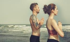 Concentração Serene Relaxation Concept calmo da meditação da ioga fotos de stock royalty free