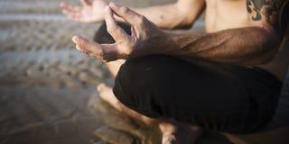 Concentração Serene Relaxation Concept calmo da meditação da ioga imagem de stock