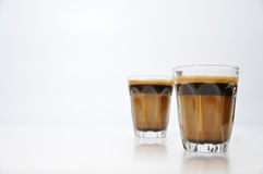 Concentrado caliente corto caliente del café fotografía de archivo libre de regalías
