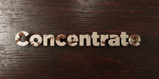 Concentrate - grungy wooden headline on Maple  - 3D rendered royalty free stock image Royalty Free Stock Images