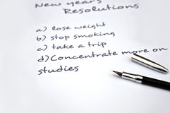 Concentrate more on studies. New year resolution of concentrating more on studies Royalty Free Stock Photography