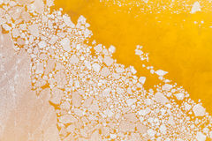 Concentrate salt is floating Royalty Free Stock Images