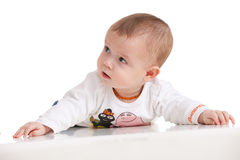Concentrated baby Stock Image