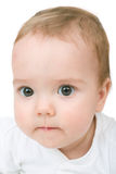 Concentrated baby Royalty Free Stock Photo