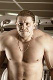 Concentrated bodybuilder Stock Images
