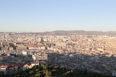 City airview map in marseilles. 2017-12-16 Royalty Free Stock Image