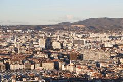 City airview map in marseilles. 2017-12-16 Stock Image