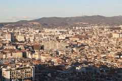 City airview map in marseilles. 2017-12-16 Royalty Free Stock Photo