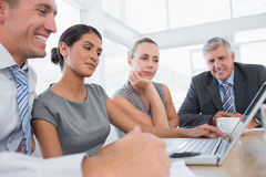 Concentrated business team during meeting Stock Image