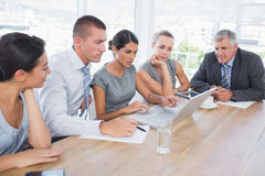 Concentrated business team during meeting Stock Photography