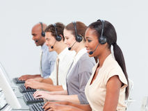Concentrated business team working Stock Photo
