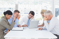 Concentrated business team working together Stock Images
