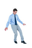 Concentrated businessman walking Stock Photos