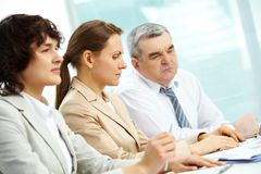 Concentrated businesspeople Stock Image