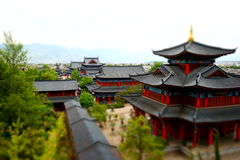 Concentrated history. Lijiang old houses were built at around 1200 A.C Royalty Free Stock Photography