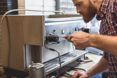 Concentrated man renovating apparatus for coffee Stock Image