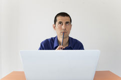 Concentrated man Stock Photo
