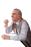 Concentrated old man Stock Images