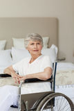 Concentrated senior woman Stock Image