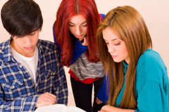 Concentrated students Stock Image