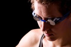 Concentrated swimmer Stock Images