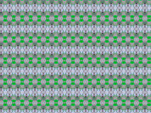 Concentrated. Textile  pattern in a repeated distibution that combines green and silver tones Stock Photos