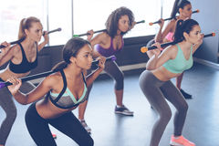 Concentrated at their workout. Stock Image