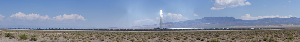 Concentrated Thermal Solar Power Plant Panorama Stock Images