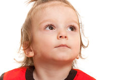 Concentrated toddler Royalty Free Stock Images