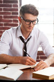 Concentrated on work. Stock Images