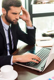 Concentrated at work. Stock Images