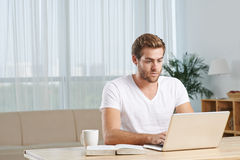 Concentrated on work Stock Images