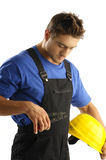 Concentrated worker Royalty Free Stock Images