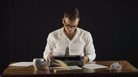 Writer Collects All Pages of Chapter