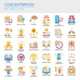 Concentratie, Pixel Perfecte Pictogrammen vector illustratie