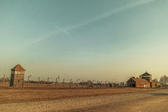 Concentratiekamp auschwitz-Birkenau voor uitroeiing Stock Foto
