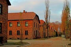 Concentratiekamp Oswiecim, Polen Stock Afbeelding