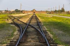 """Concentratiekamp van Auschwitzii†het """"Birkenau in Oswiecim, Polen stock foto's"""
