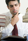 Concentrating stock image