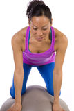 Concentrating ball balance Stock Photography