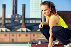 Concentrating On The Environment In Parkour Royalty Free Stock Photos