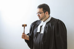 Concentrating on the gavel Royalty Free Stock Photo