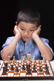 Concentrating on next move. Royalty Free Stock Image