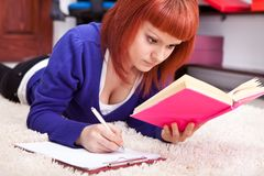 Concentrating student learning Stock Photography