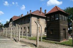 Concentratiokamp van Auschwitz stock foto