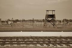 Concentration camp - Auschwitz-Birkenau,history Stock Photos