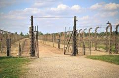Concentration camp Auschwitz Birkenau II in Brzezinka, Poland. Royalty Free Stock Image